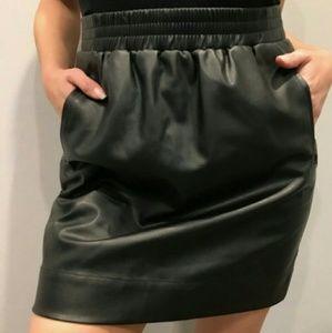 Ann Taylor LOFT Faux Leather Mini Skirt